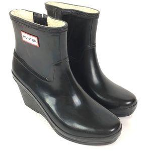 Hunter Aston Wedge Heel Rain Boots